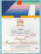PAUILLAC 1EGCC ETIQUETTE CHATEAU MOUTON ROTHSCHILD 1984 150 CL DECOREE§24/11/17§
