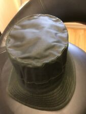 BARBOUR A115 GREEN WAXED COTTON BUCKET HAT - Small NWOT Mint Order