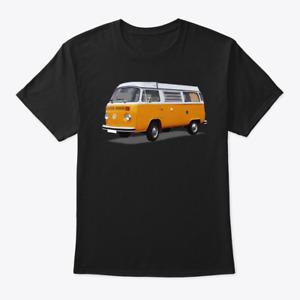 VW Bus Tee Shirt -Vintage Orange Volkswagen Bus T-Shirt - UNIQUE