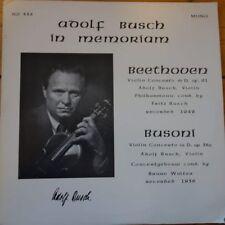 PASTILLAS AROMÁTICAS IGI 335 Adolf Busch In Memoriam Beethoven/Busoni conciertos de violín