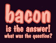 METAL MAGNET Bacon Is The Answer What Was Question Humor Pig Hog Food MAGNET