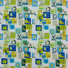 "HARLEQUIN FABRIC ""LITTLE LETTERS"" EMERALD APPLE 2.7MtrsCUSHION-BLINDS-UPHOLSTERY"