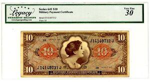 Usa/Mpc ... P-M63 (Series 641) ...10 Dollars ... ND(1965) ... *VF+*(30) Plate 18