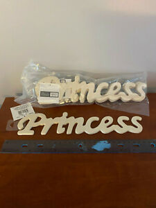 """Package of 6 Wooden Word Scripit """"Princess"""" Darice Wooden Unfinished NIP"""
