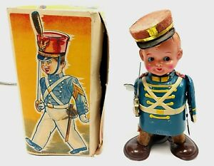 1950's Cadet Tin Windup Toy Soldier w/ Box & Insert by Showa of Japan