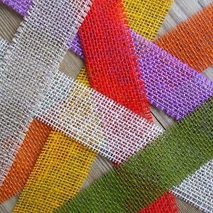 Natural Jute Hessian Ribbon Rustic Wedding Decor Craft Choice of 13 Colours