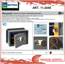 CASSAFORTE VERTICALE PERSONAL CHIAVE E COMBINAZIONE CM.49X37 ART 11.2445 MOTTURA