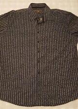 Blue Pronto Uomo Mens XXL Long Sleeve Button Front Shirt