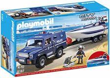 Playmobil - 5187 Figurine Fourgon et Vedette de Police