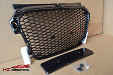 RS1 Type Gloss Black Grill FULL MESH Honeycomb FITS AUDI A1 S1 2010 TO 2014 UK