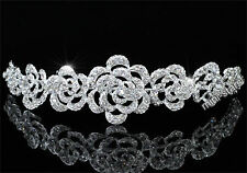 Bridal Wedding Rose Crystal Headband Tiara AT1578