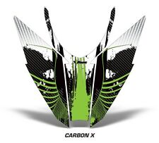 Sled Hood Graphics Kit Decal Wrap For Arctic Cat Pro Climb Cross 12-16 CRBNX GRN