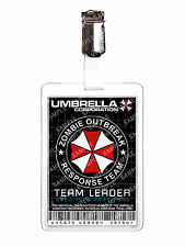 Resident Evil Umbrella Zombie Response Team Cosplay Prop Comic Con