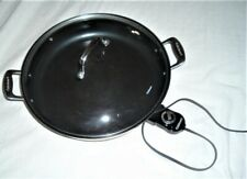 """Cuisinart Green Gourmet CSK-250 Electric Non-Stick 14"""" Skillet Nice&Clean"""