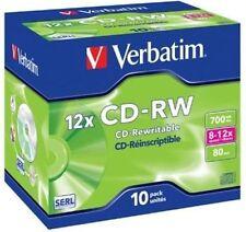 30 Verbatim Rohlinge CD-RW 700MB 80Min 12x Jewelcase