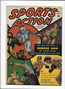 "SPORTS ACTION #2 [1950 VG+] ""GEORGE GIPP OF NOTRE DAME"""