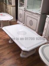 VERSACE DESIGN WHITE & SILVER ITALIAN HIGH GLOSS COFFEE TABLE