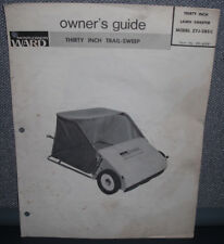 "MONTGOMERY WARD 30"" TRAIL SWEEP LAWN SWEEPER ZYJ-285C OWNER'S GUIDE PARTS LIST"