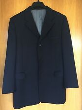 """Nordstrom brand Teen Black Wool Tailored Suit Size 20R jacket/30"""" waist trousers"""