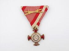 New listing Original Wwi Austrian Imperial Gold Merit Cross w/ War Ribbon & Swords in Case