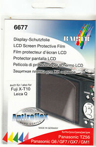 Display - Schutzfolie für Fuji X-E3 Fujifilm X-T10 /T-20 Leica Q  +  Panasonic