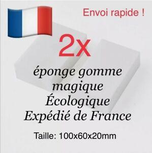 🇫🇷 2 éponges Magiques - Éponge Gomme Magique Mélamine - Écologique - Envoi Rap