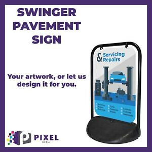 Swinging Pavement Sign 2000 Outdoor Advertising Shop A-Board Swinger 2