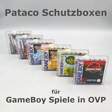 💥 Schutz Box für GameBoy Spiele in OVP - Pataco Acryl Case ohne Nintendo Logo