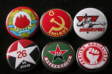 World Communist Party Button Badge Lot Rojava Hungary Cuba Portugal Yugoslavia 6