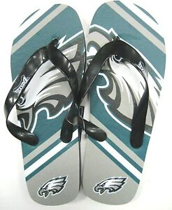 Philadelphia Eagles NFL Unisex Large Logo Flip Flops ~ NWT