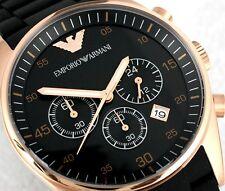 100% Authentic EMPORIO ARMANI  Chrono Black  Wristwatch Each AR5905/AR5906