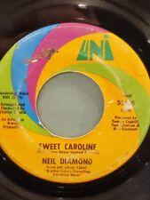 "NEIL DIAMOND 7"" 45 RPM - ""Sweet Caroline"" & ""Dig In"" G+ condition"