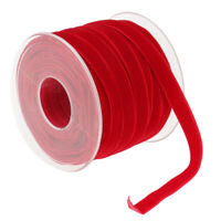 20 Yard Velvet Ribbon Roll Fabric For DIY Gift Package Wrapping Crafts Red