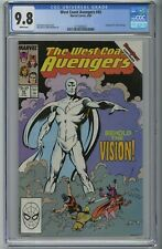 WEST COAST AVENGERS 45 CGC 9.8 FIRST WHITE VISION JOHN BYRNE 1989 WHITE PAGES