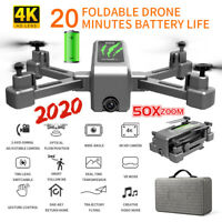 RC Drones With HD 4K Camera x Pro GPS Follow Me WIFI FPV Fordable Quadcopter AU