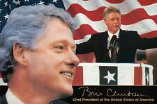 Bill Clinton, 42nd President of the United States, from Hope Arkansas - Postcard