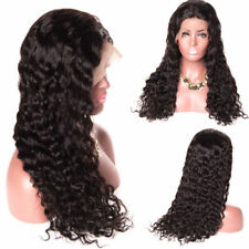 Womens Brazilian Remy Style Hair Deep Wavy Curly Lace Front Wig With Baby Hair