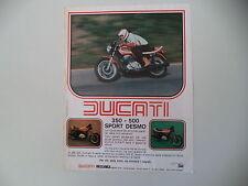 advertising Pubblicità 1978 MOTO DUCATI 350/500 SD SPORT DESMO