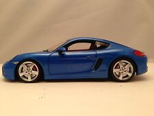 Minichamps 2013 Porsche Cayman S (981) Blue Diecast Model 1/18