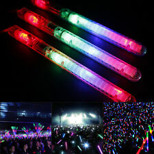 30PCS LED Glow Flashing Wand Rainbow Light Up Sticks Party Concert Prom Blinking