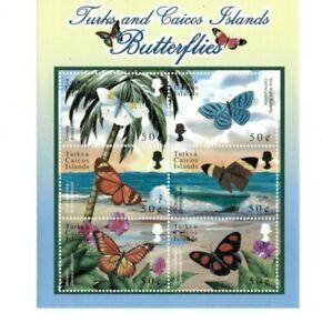 Turks and Caicos - 2000 - Butterflies - Sheet of Six - MNH