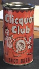 *Super Clean* Clicquot Club Root Beer Flat Top Soda Can--Pre-Zip Code (Rolled)