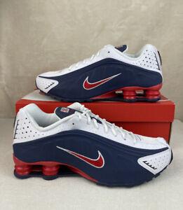 Nike Shox R4 USA 🇺🇸 Men's Size 12 Midnight Navy Red White 104265-406 New