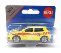 Siku metall Edition Tschechien 1411 VW Golf VI Ambulanz Ambulance Auslandsmodell