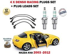 Pour mazda RX8 1.3 2003-2012 denso iridium 4 bougies + ignition leads set