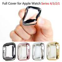CG_ Shockproof Full Cover Screen Protector Guard for Apple Watch 40mm/44mm Mysti