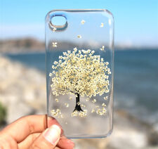 iPhone 7 7 Plus 6/6s Plus 5/5s SE 5C 4/4s Pressed Flower Phone Case - White Tree
