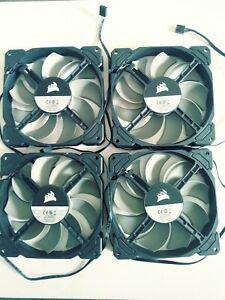 Set of 4 fans new Corsair 140mm ,12v DC 0.3A RWFOO37. 4pins