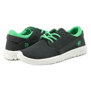 Etnies Youth Kids Scout Shoes Black Green 5 New