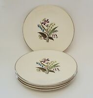 Edwin Knowles Chalet Bread and Butter Plates Coupe Set of Five (5) 6 1/4